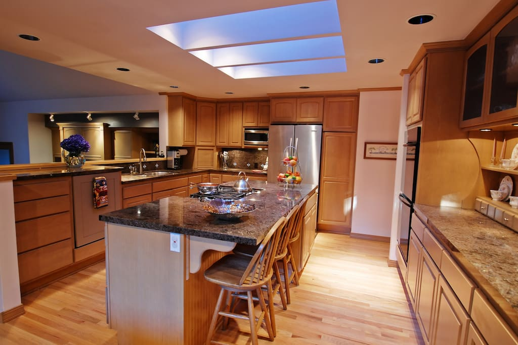 Large shared kitchen is a cooks delite