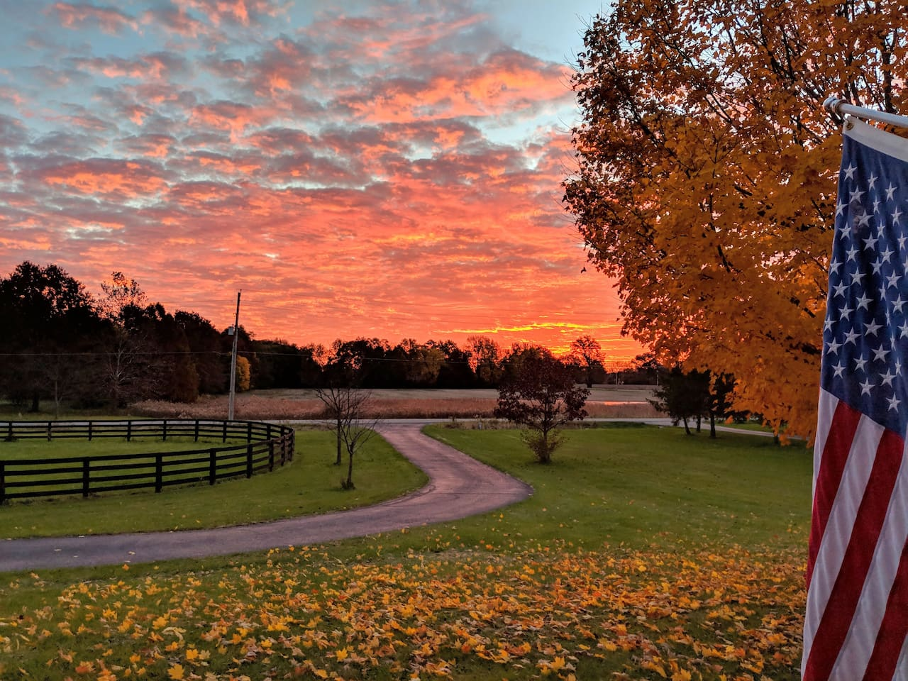 Enjoy a sunrise from your bedroom window or the front porch rockers.