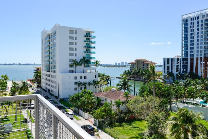 Modern 2/2 Condo in Wynwood W Balcony / Water View