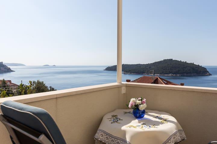 Rose Garden - Studio with Terrace & Sea View - Dubrovnik - Apartemen