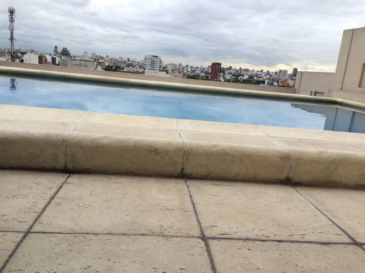 Swimming  pool & balcony Studio in Tango Palermo