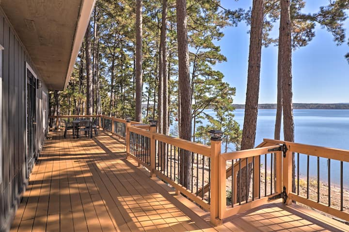 NEW! Waterfront Getaway w/ Furnished Deck & Grill!