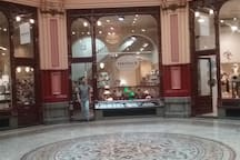 The elegant Block Arcade in Collins Street has the delicious Haigh's chocolate shop.