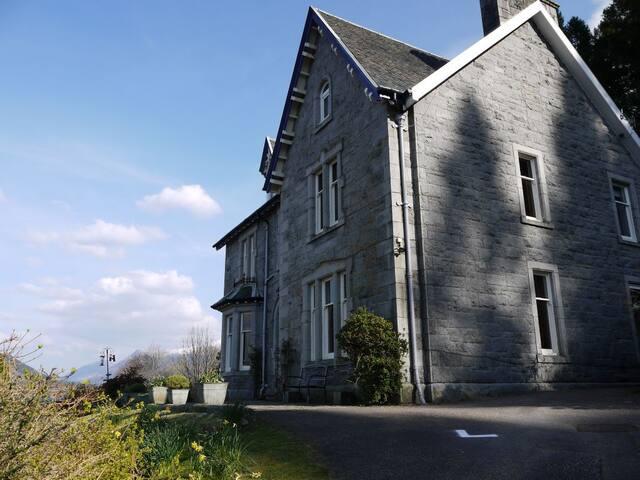 Craiglinnhe House looking towards Glen Coe