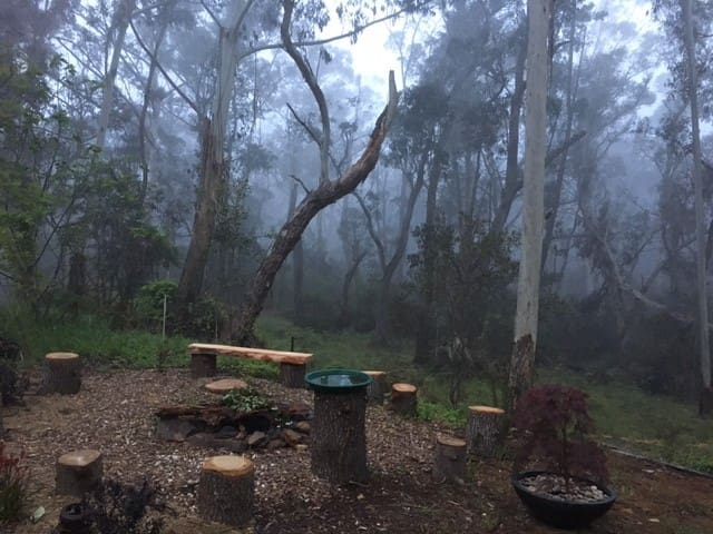 Misty Blue Mountains Upstairs & Downstairs