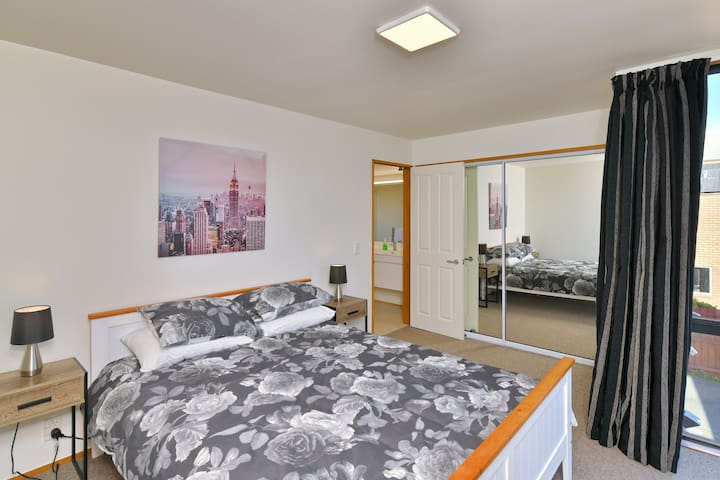 bedroom with view to ensuite
