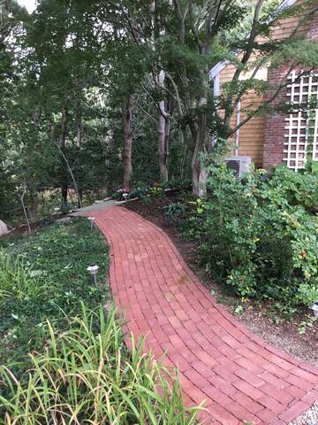 Walkway to apartment