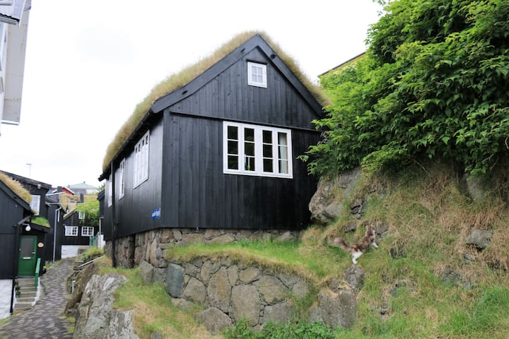 Cosy house in old Tórshavn with a view to Tinganes - Tórshavn - Huis