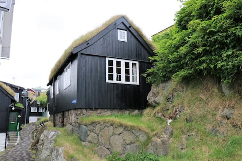 Cosy house in old Tórshavn with a view to Tinganes