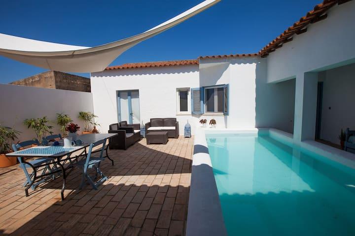 A Sunny Blue Villa in the Algarve