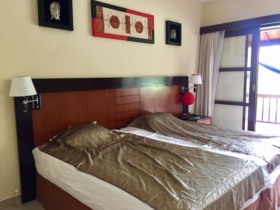 Big cozy room. You will also have a big wardrobe, security box, fridge, dryer for clothes etc.