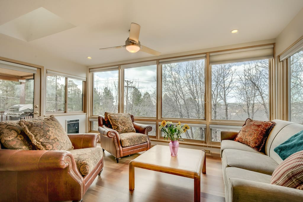 Sun Room with Windows that open to let in the Mountain Air