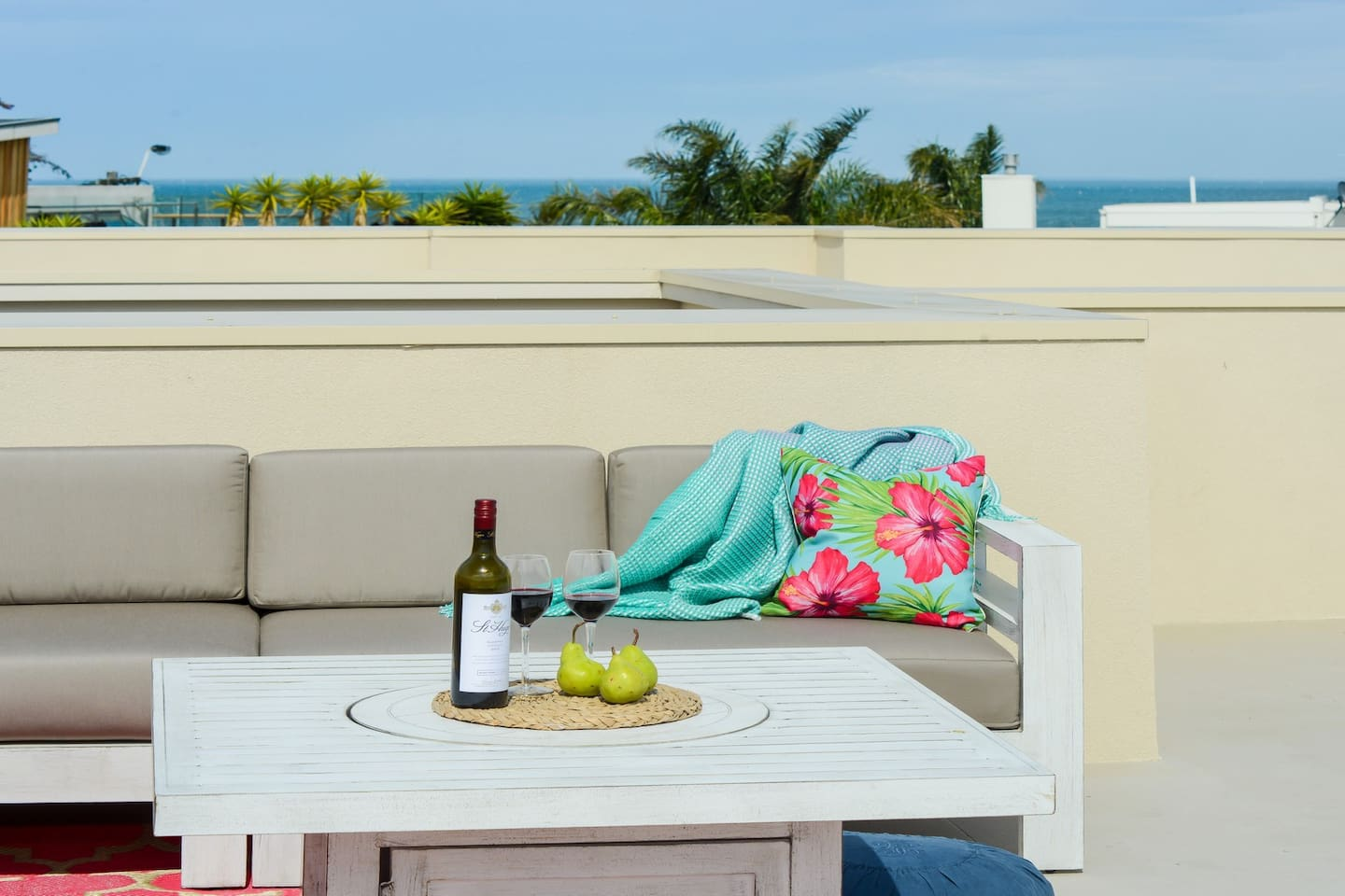 Relax on the roof top terrace