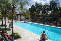 The communal pool available at the Beach House - guest access