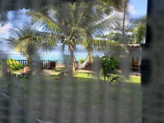 vista da janela do chalé