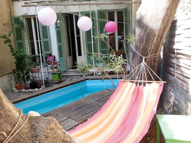 """""""La Plume et la Pointe"""" 130m2 avec piscine, centre"""