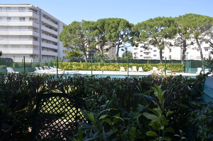 Studio avec terrasse dans résidence avec piscine et bord de mer
