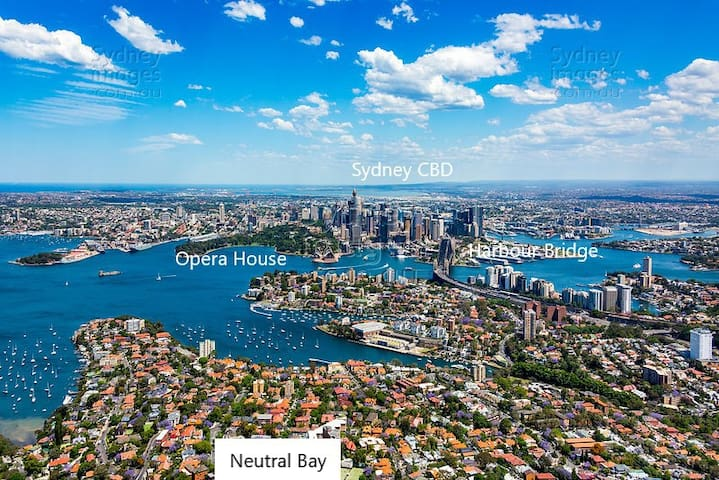 Neutral Bay is on Sydney's lower north shore 4kms and a short 10 minute express bus ride from the city