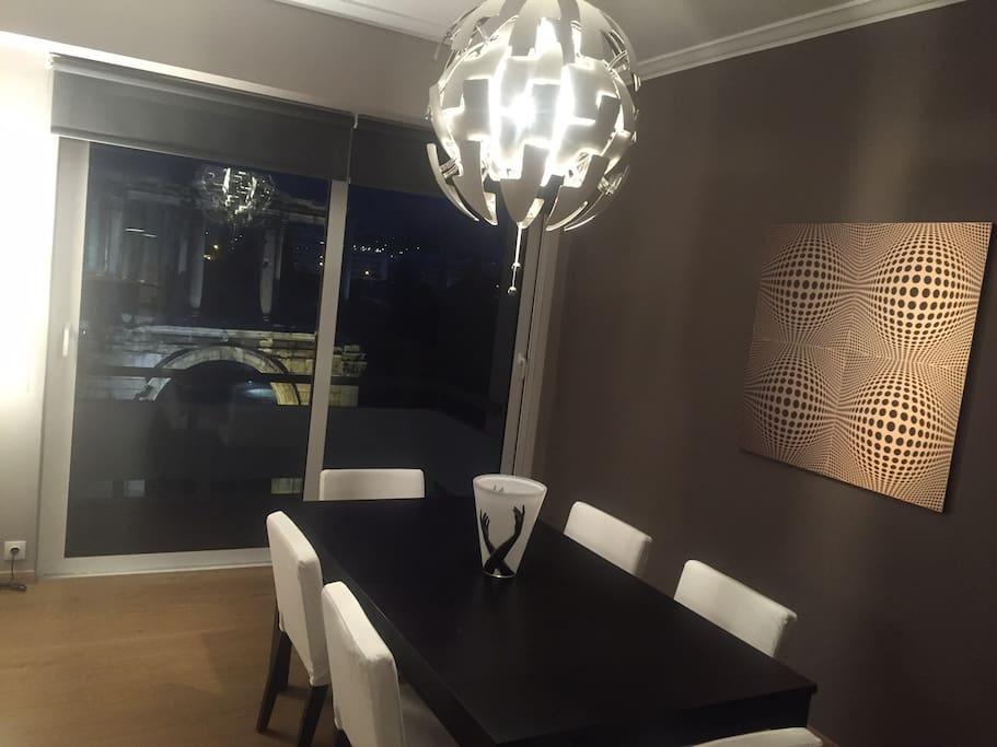 dinning room at night