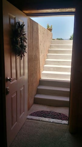 Stairs into basement