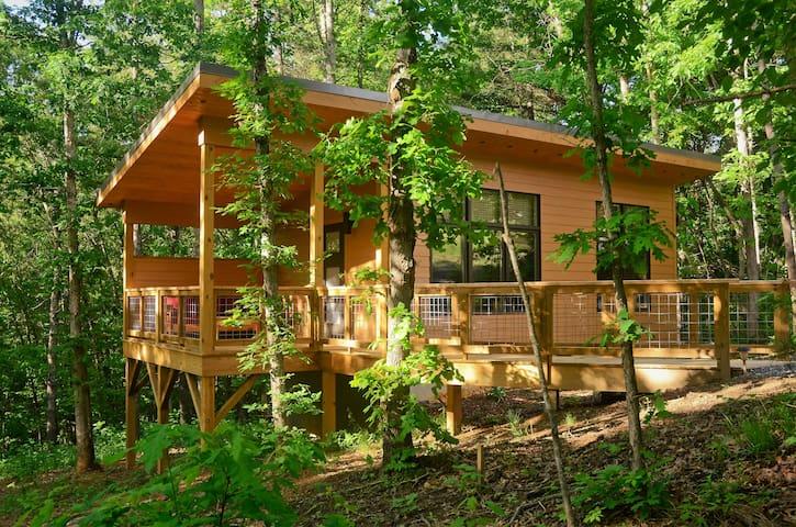 "Tiny ""Arrowhead"" cabin minutes from Asheville!"