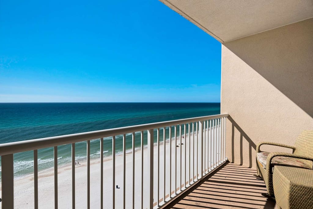 Pull up a seat and enjoy gorgeous views from this 10th floor balcony.