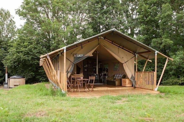 Luxury safari tent glamping
