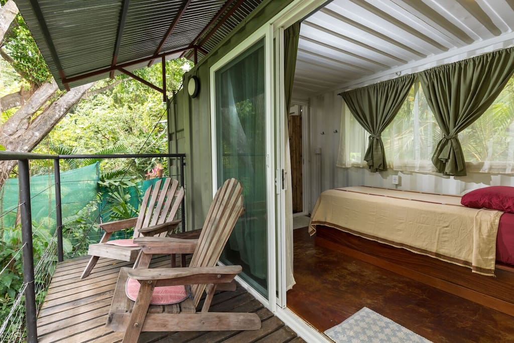 Relax and enjoy time on your private deck.