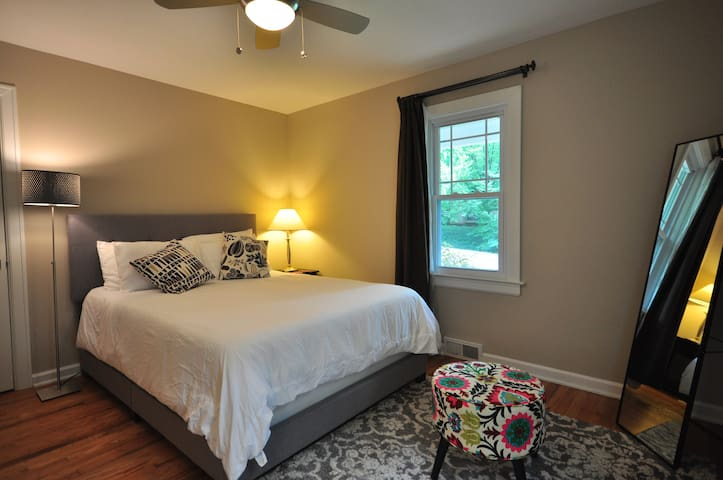 Walk to campus from cozy 2br guest suite!