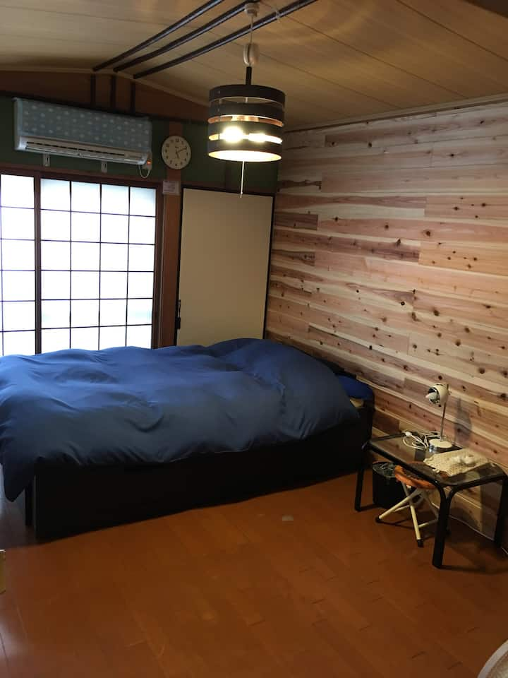 mame庵 【HIYOKO】小さめ部屋10㎡(6畳) セルフ朝食無料(食パン+コーヒー)