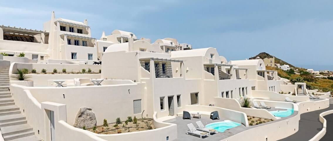 Suite with private outdoor jacuzzi - Imerovigli - Apartemen