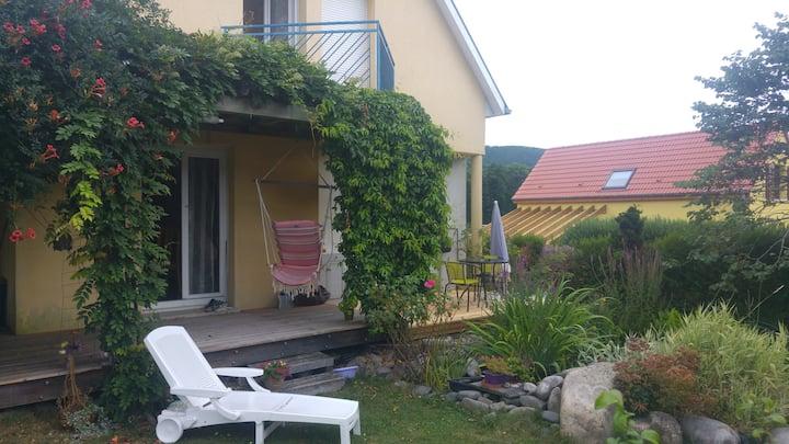 Alsace, chambre avec vue  - petit dej