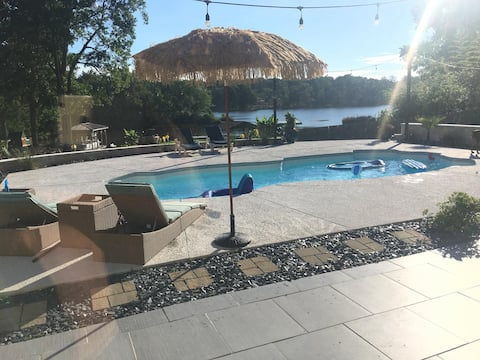Executive Lake House with Saltwater Pool