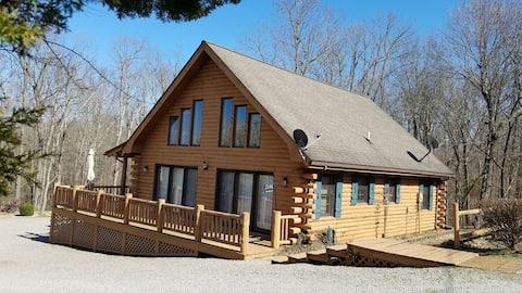 Upscale Rough rivr cabin, swim, kayak, boat, fish