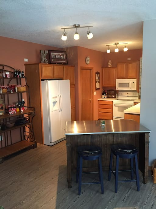 Full kitchen with use of all dishes, spices, baking supplies, etc.