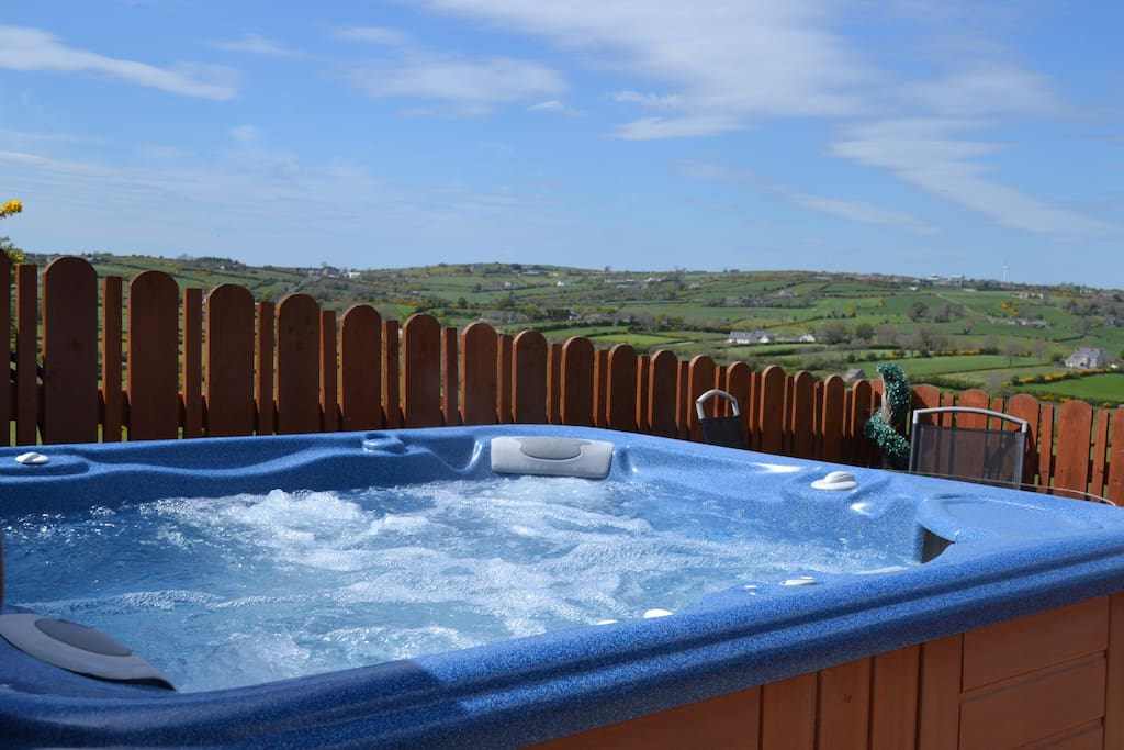 Relax and unwind in the hot-tub