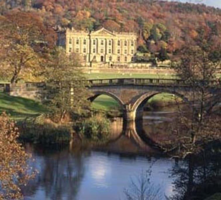 Chatsworth is just 10 minutes walk away.
