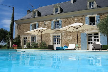 Luxury Farmhouse Family Holidays Pool Futuroscope - Thurageau - Villa