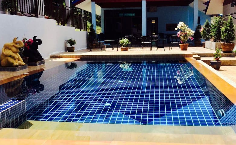 Resort&Pool House#2 with 2 rooms KhaoLak at 10km