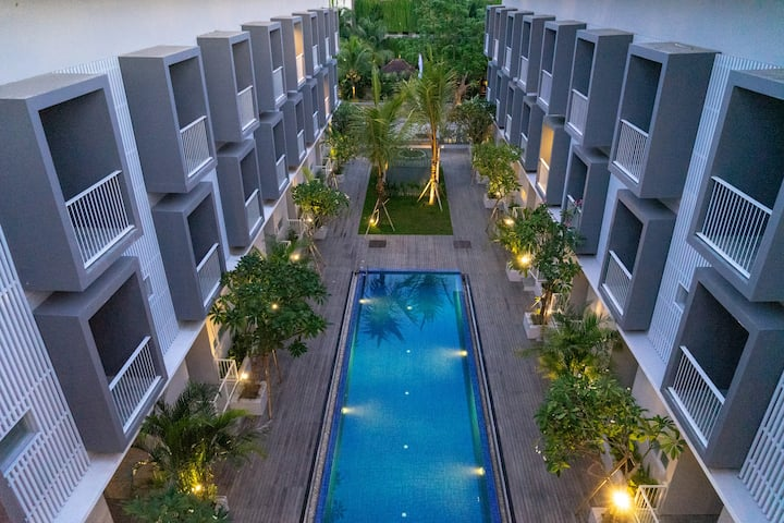 Bali Lovely Studio Apartment With Balcony @Kuta 6