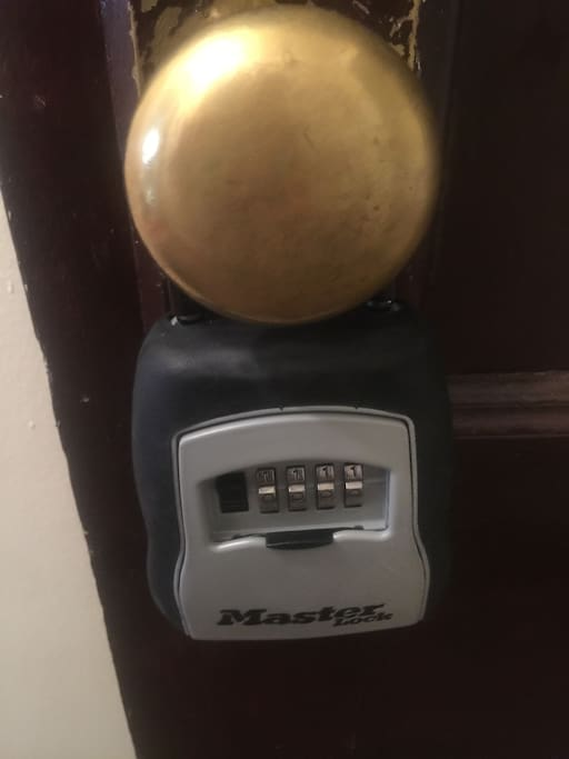 FRONT DOOR KNOB LOCKBOX: Check the Guest Resources for the current combo to the Lockbox attached to the front door knob. #graffitiroomdetroit