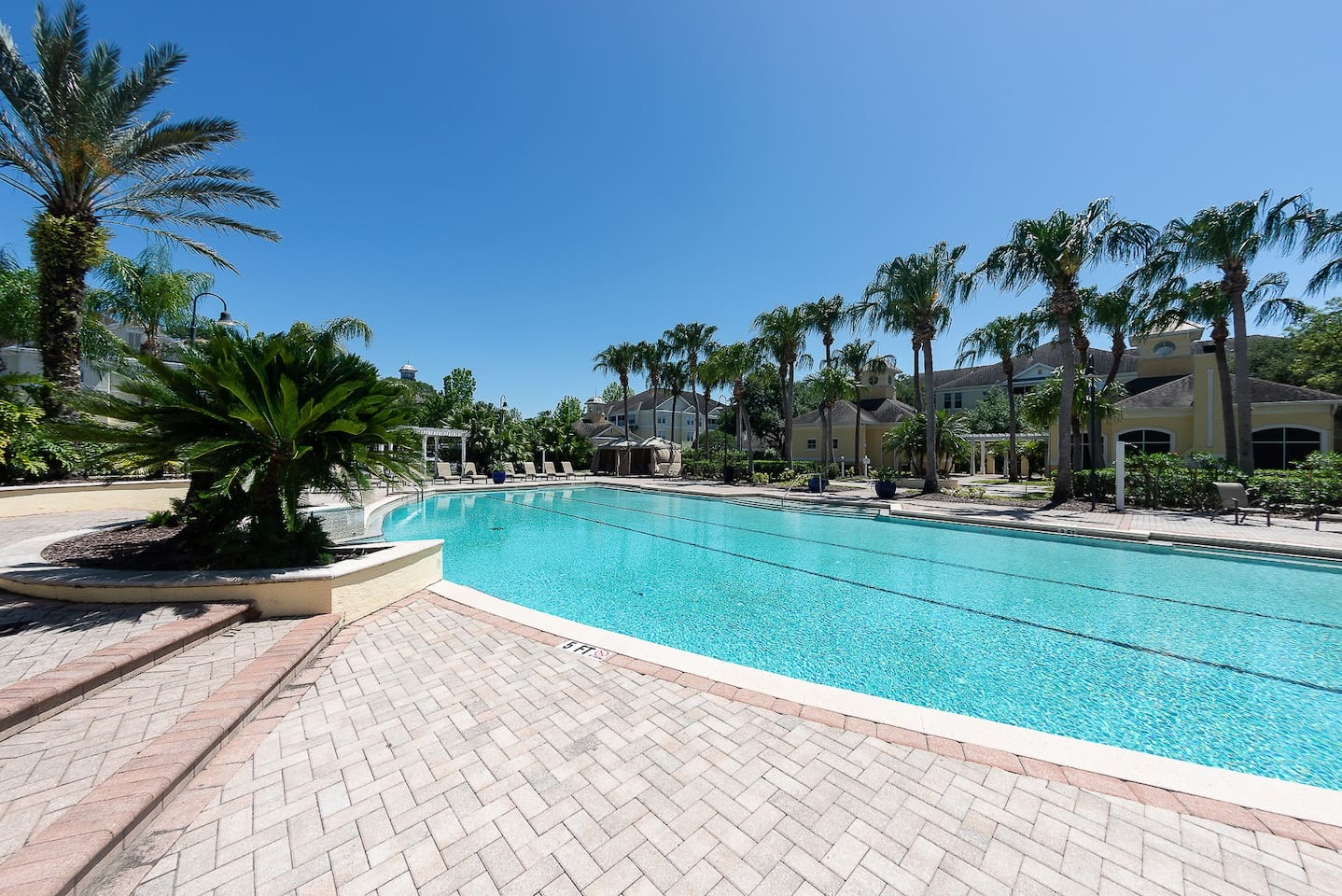 Communal pool access only steps from your private resort style 1 bed/ 1 bath apartment, complete with newly built gas grills and shaded gazebos.