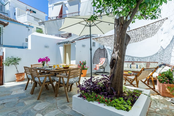 Evelin's Villa in Skopelos Town for 9