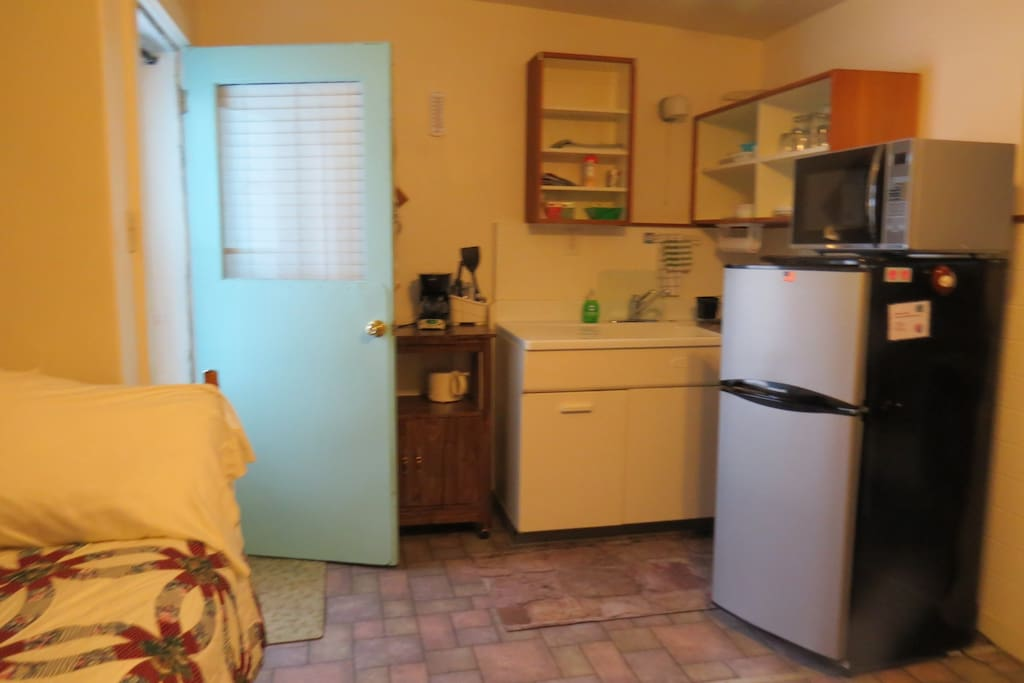 Entrance and kitchenette