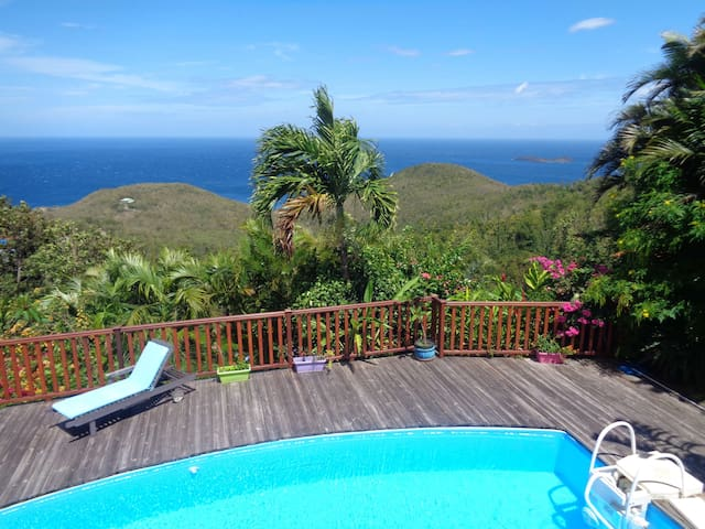 Villa piscine vue sur mer des Caraïbes