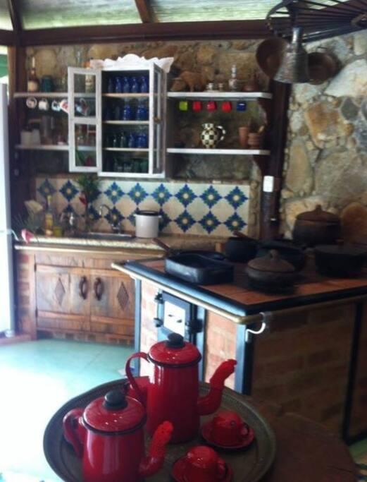 Cozinha caipira/área para churrasco