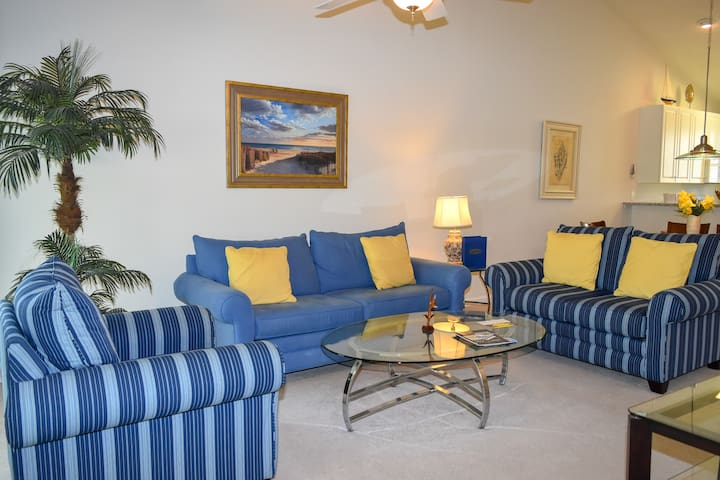 Ocean Keyes. 2 bedroom, 2 bath condo walking distance to beach. Sleeps 6. 3rd floor, walk-up. Screened porch. GREAT location! Outdoor pool, jacuzzi, fitness room. No pets, smoking, motorcycles.  Families only.  No student groups.