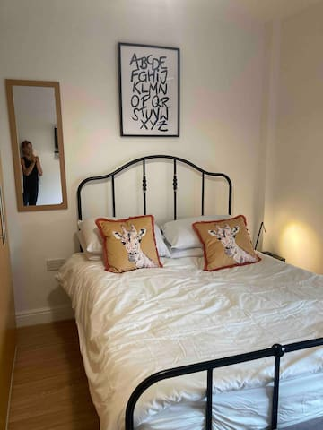 Bedroom 2 double bed working space fitted wardrobes