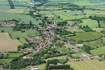 Aerial view of our beautiful Norfolk village
