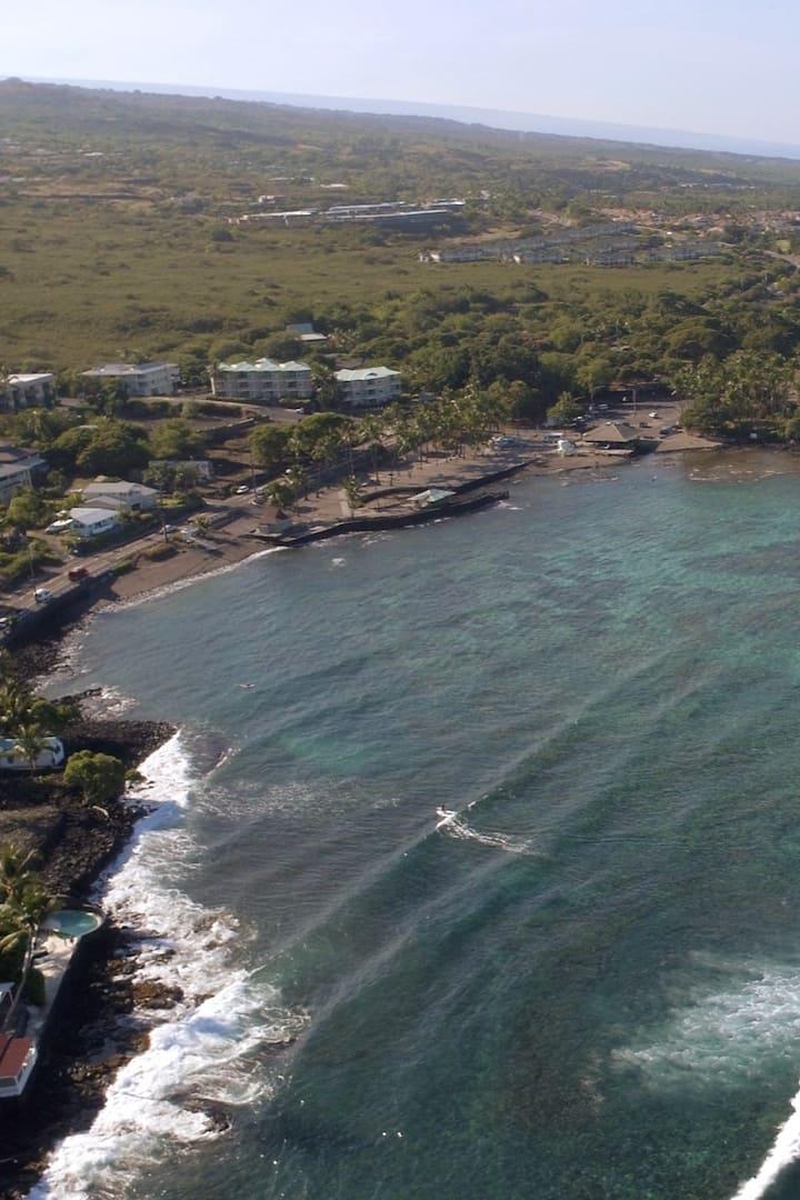 Aerial view of Kahaluu Beach Park